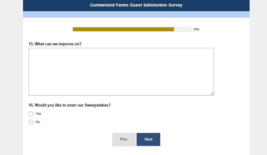 Cumberland Farms Survey