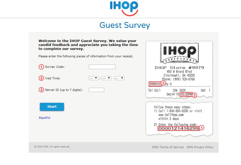 IHOP Guest Survey